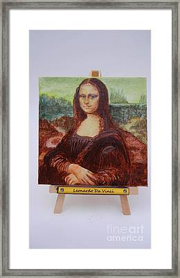 Framed Print featuring the painting Mona by Diana Bursztein
