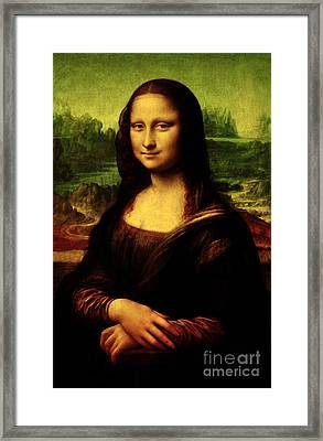Framed Print featuring the painting Mona Lisa by Da Vinci