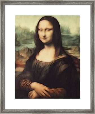 Mona Lisa Digital Painting Framed Print