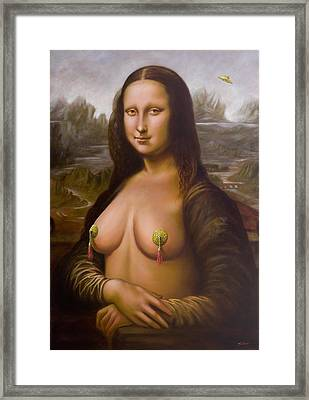 Mona Lisa II Framed Print by John Silver