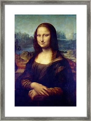Framed Print featuring the painting Mona Lisa by Karon Melillo DeVega