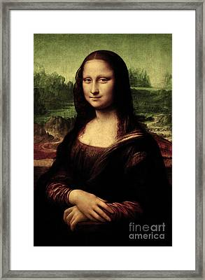 Framed Print featuring the painting Mona Lisa Painting by Leonardo da Vinci