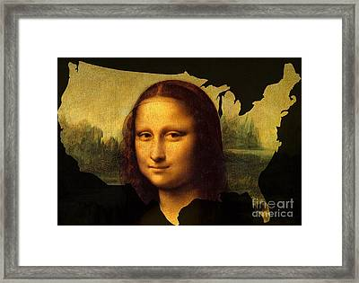 Mona Lisa United States Framed Print
