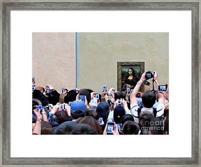 Mona Mobbed Framed Print