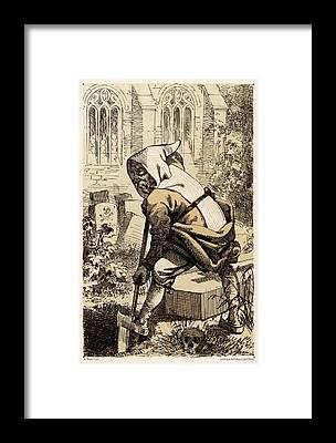 Trappist Monk Framed Prints