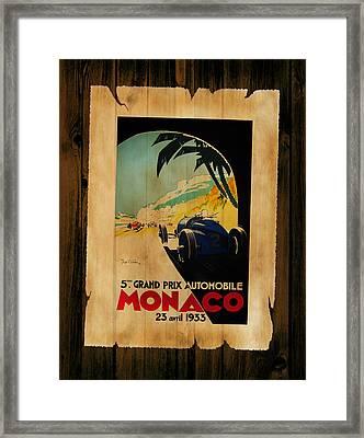 Monaco 1933 Framed Print