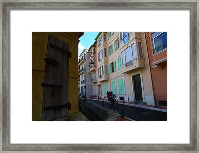 Monaco Alley Framed Print