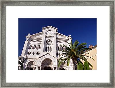 Monaco Cathedral Framed Print by Ioan Panaite