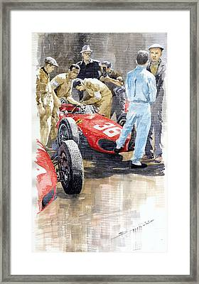 Monaco Gp 1961 Ferrari 156 Sharknose Richie Ginther Framed Print by Yuriy Shevchuk