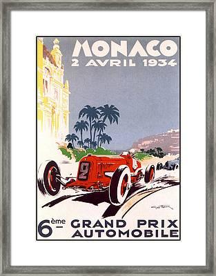 Monaco Grand Prix 1934 Framed Print by Georgia Fowler