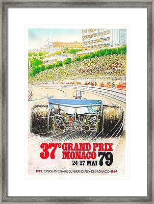 Monaco Grand Prix 1979 Framed Print by Georgia Fowler