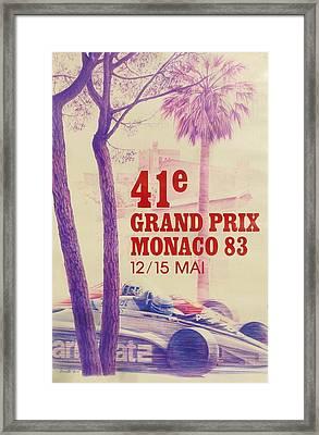 Monaco Grand Prix 1983 Framed Print by Georgia Fowler