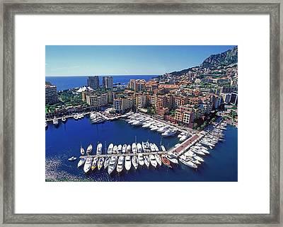 Monaco, La Condamine Framed Print by Hans-peter Merten