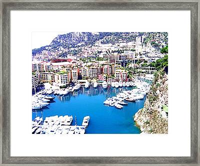 Framed Print featuring the photograph Monaco by Marwan Khoury