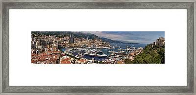 Monaco Panorama Framed Print by David Smith