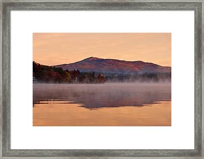 Monadnock Sunrise Framed Print by Gordon Ripley