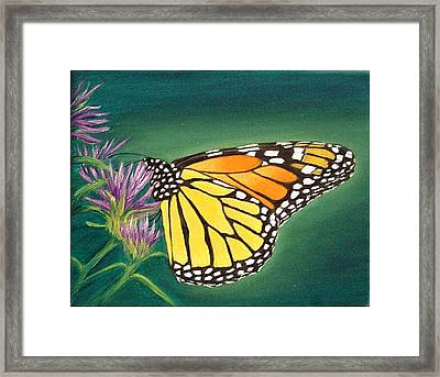 Monarch And Liatris Framed Print