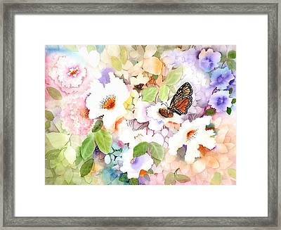 Monarch At My Garden Framed Print by Neela Pushparaj