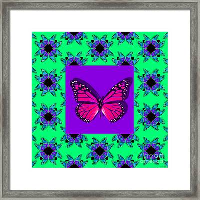Monarch Butterfly Abstract Window 20130203p148 Framed Print by Wingsdomain Art and Photography
