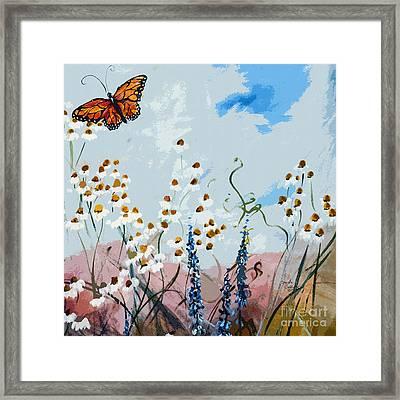 Monarch Butterfly Modern Art Framed Print by Ginette Callaway