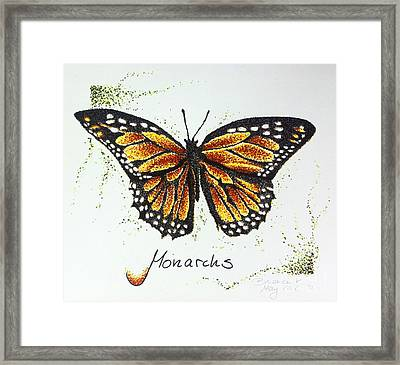 Monarchs - Butterfly Framed Print by Katharina Filus