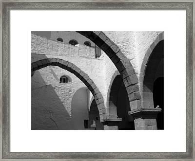 Monastery Arches Framed Print