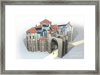 Monastery At Castrojeriz, Artwork Framed Print by Jose Antonio Pe??as