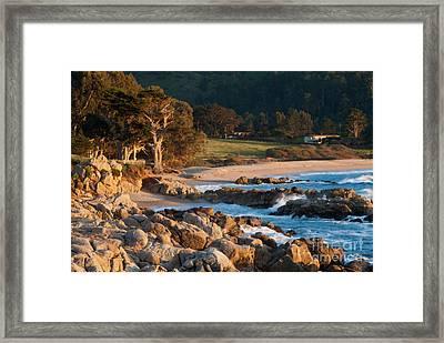 Monastery Beach In Carmel California Framed Print