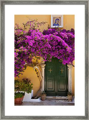 Monastery Door Framed Print by Brian Jannsen