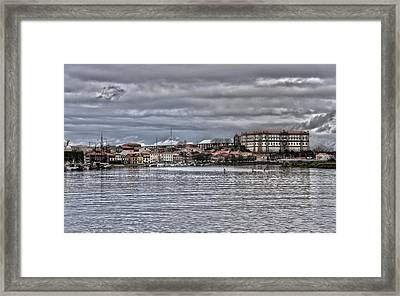 Monastery From The River Framed Print