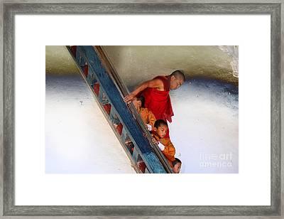 Monastery In Bhutan Framed Print