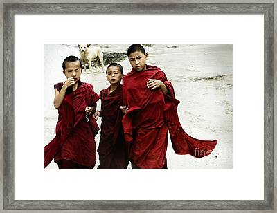 Framed Print featuring the digital art Monastery Leave by Angelika Drake