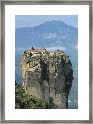 Monastery Of The Holy Trinity Hagia Framed Print by Everett
