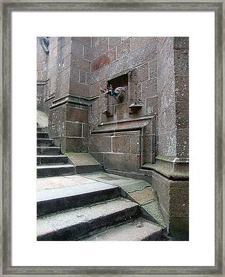 Monastery Steps To Water Source Framed Print by Mieczyslaw Rudek