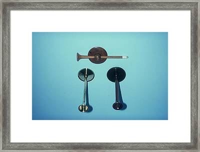 Monaural Stethoscopes Framed Print by Science Photo Library