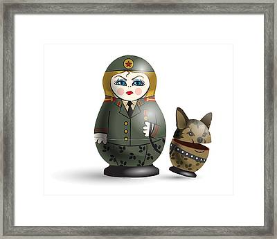 Monday Guard Framed Print by Vanessa Bates