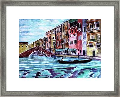 Monday In Venice Framed Print