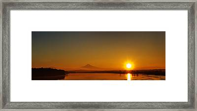 Monday Morning Columbia River Mount Hood Framed Print by Michael Rogers