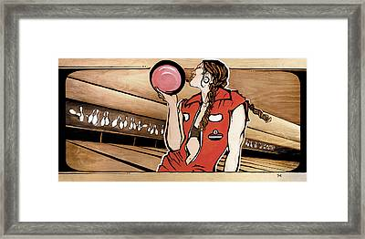 Monday Night Bowler Framed Print