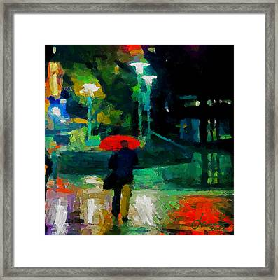 Monday Night On Dundas West Tnm Framed Print