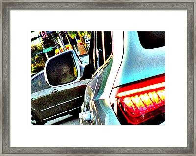Monday Traffic Framed Print