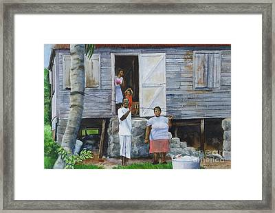 Monday-washday Framed Print by Karol Wyckoff