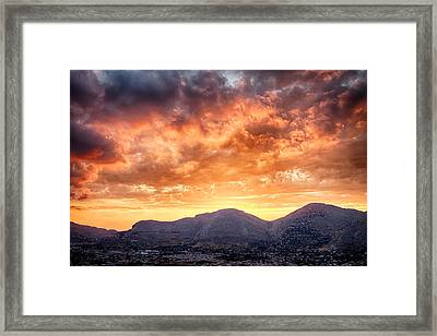 Mondello Sunset Framed Print by Viacheslav Savitskiy