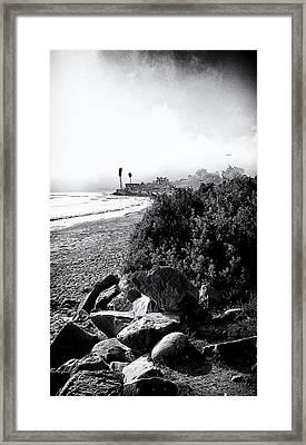 Mondos Shoreline Framed Print by Ron Regalado