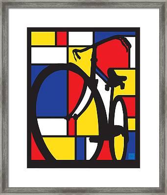 Mondrian Bike Framed Print