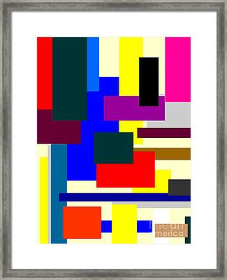 Mondrian Composition Framed Print by Celestial Images