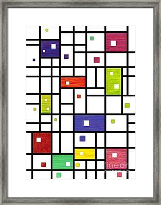 Mondrian-like Framed Print by David K Small