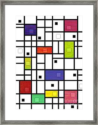 Mondrian-like Variation Framed Print