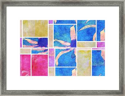 Mondrianity - Daisies 0111 Framed Print by Variance Collections