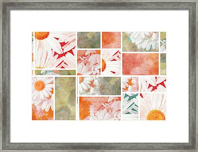 Mondrianity - Daisies 02 Framed Print by Variance Collections